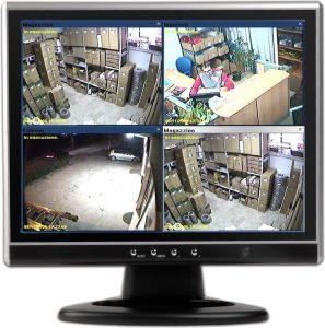 monitor di videosorveglianza